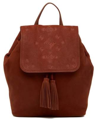 Lucky Brand Plum Leather Backpack