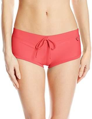 Body Glove Women's Smoothies Sidekick Solid Sporty Bikini Bottom Swimsuit Short