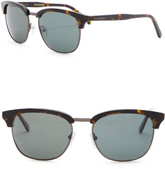 Ted Baker Polarized 54mm Clubmaster Sunglasses