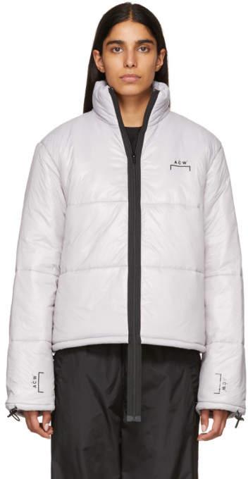 Grey Down Puffa Coat