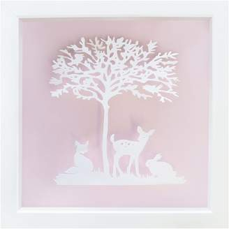 Almond Tree Designs Vintage Kids Friends of the Forest Wall Art, Almond Light Pink