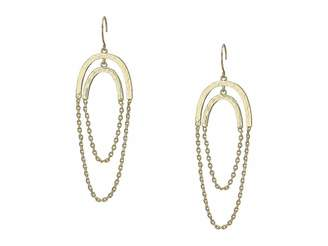 French Connection Chain Orbit Earrings