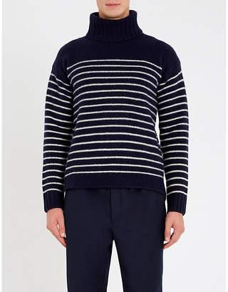 Polo Ralph Lauren Striped turtleneck wool jumper