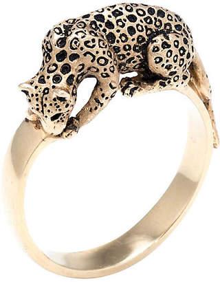 One Kings Lane Vintage 14k Heirloom Leopard Cat Ring Vintage - Precious & Rare Pieces