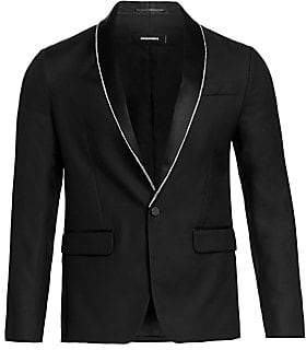 DSQUARED2 Men's Crystal Border Tuxedo Jacket