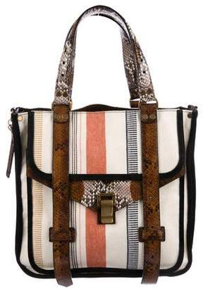Proenza Schouler Leather-Trimmed Canvas Tote w/ Tags