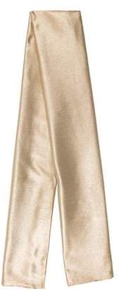 Dolce & Gabbana Metallic Canvas Shawl w/ Tags