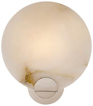 AERIN Iveala Single Sconce - Alabaster/Polished Nickel