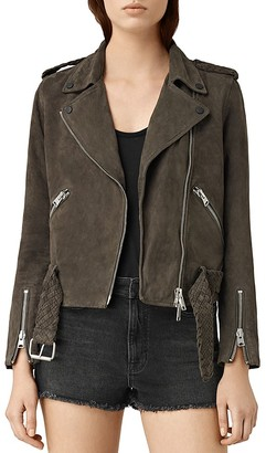 ALLSAINTS Wyatt Suede Biker Jacket $595 thestylecure.com