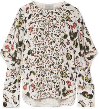 Off-White Jason Wu GREY - Ruffled Floral-print Silk Crepe De Chine Shirt