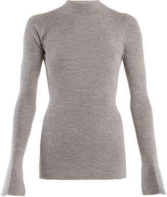 Stella McCartney High-neck cotton and alpaca-blend sweater