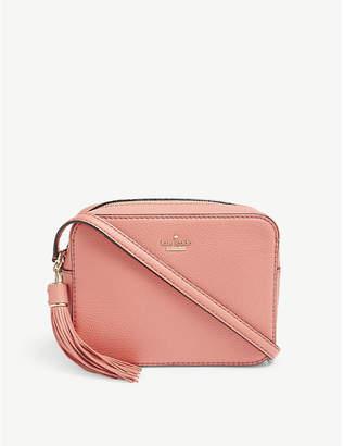 Kate Spade Ladies Coral Pebble Pink Striped Kingston Drive Arla Leather Shoulder Bag