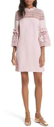 Ted Baker Lace Panel Bell Sleeve Tunic Dress