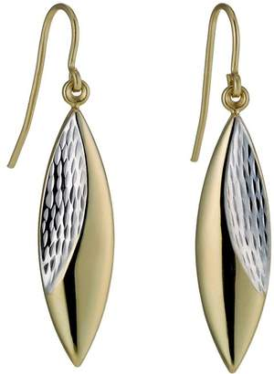 Together Bonded Silver & 9ct Gold Two Colour Oval Earrings