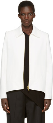 Lanvin Ivory Short Zip Jacket $2,695 thestylecure.com