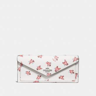 Coach New YorkCoach Soft Wallet With Floral Bloom Print