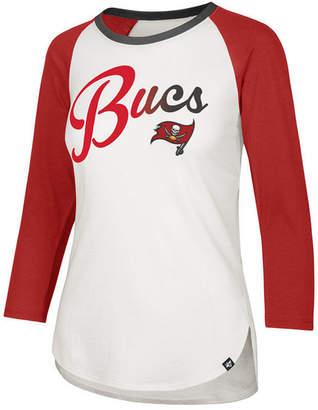 '47 Women's Tampa Bay Buccaneers Splitter Ombre Raglan T-Shirt