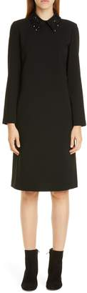 Lafayette 148 New York Janis Embellished Collar Long Sleeve Dress