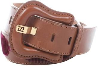 Fendi Brown Leather Belts