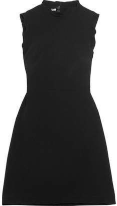 Miu Miu Open-back Cady Mini Dress - Black