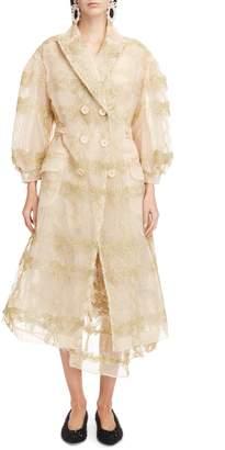 Simone Rocha Tinsel Bow Tulle Coat