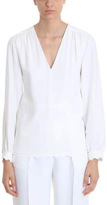 Chloé White Silk Blouse