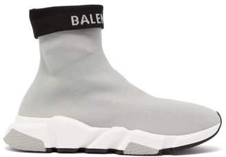 Balenciaga Speed High Top Sock Trainers - Womens - Grey