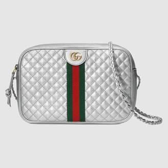 Gucci (グッチ) - ラミネート レザー スモール ショルダーバッグ