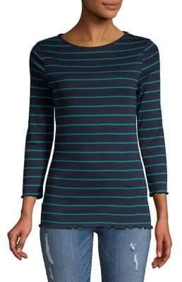 Dorothy Perkins Striped Three-Quarter Sleeve Top
