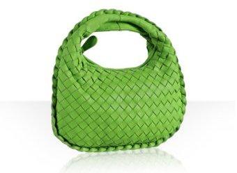 Bottega Veneta light green woven leather small handbag
