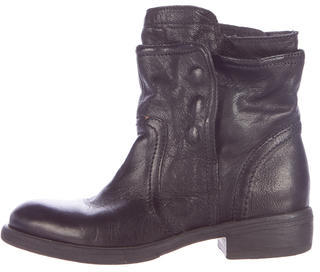 Vera Wang Leather Ankle Boots $155 thestylecure.com