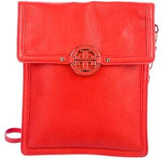 Tory Burch Grained Leather Chain-Link Crossbody Bag