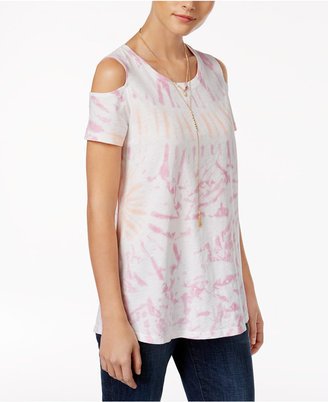Style & Co Cotton Cold-Shoulder Top, Only at Macy's $34.50 thestylecure.com