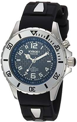 KYBOE! ' Power' Quartz Stainless Steel and Silicone Casual Watch