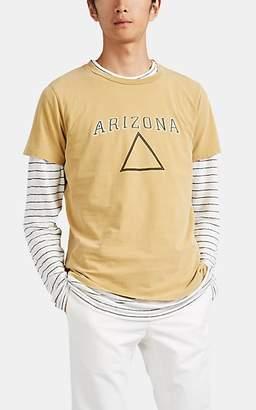 "Remi Relief Men's ""Arizona"" Triangle-Graphic Cotton T-Shirt - Mustard"