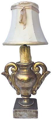 One Kings Lane Vintage 1940s Italian Gilt Urn Table Lamp