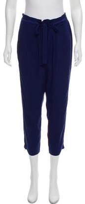Ramy Brook Silk Mid- Rise Pants