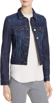 Mavi Samantha Denim Jacket in Dark Nolita $98 thestylecure.com