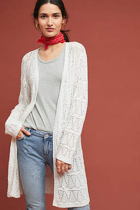 Fred and Sibel Pointelle Longline Cardigan