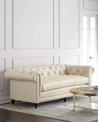 Massoud Davidson Cream Tufted Chesterfield Sofa