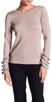 Catherine Catherine Malandrino Long Ruffle Sleeve Sweater