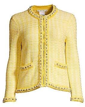 Alice + Olivia Women's Georgia Embellished Knit Jacket