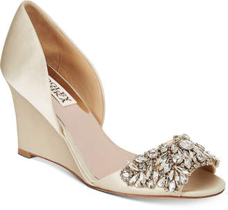 Badgley Mischka Hardy Evening Wedge Sandals