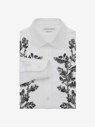 Alexander McQueen Floral Embroidered Shirt