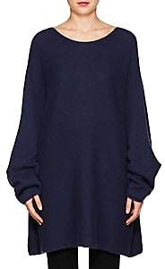 The Row Women's Clyde Cashmere-Silk Sweater - Lapis Blue