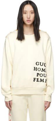 Gucci Ivory Homme Pour Femme Sweatshirt