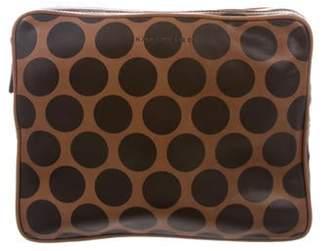 Marc Jacobs Polka Dot Leather Tablet Case Brown Polka Dot Leather Tablet Case