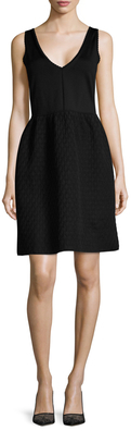 Balenciaga  Textured Skirt Fit And Flare Dress