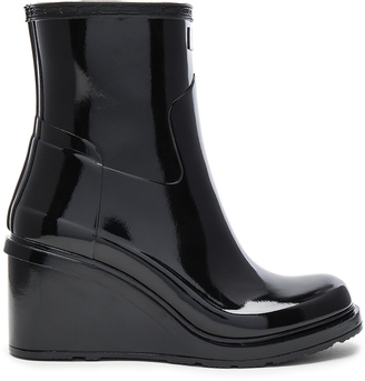 Hunter Original Refined Mid Wedge Boot $195 thestylecure.com