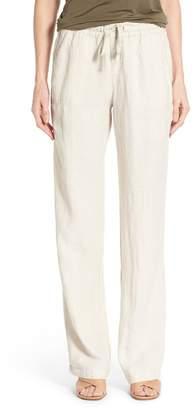 Caslon Drawstring Linen Pants (Regular & Petite)